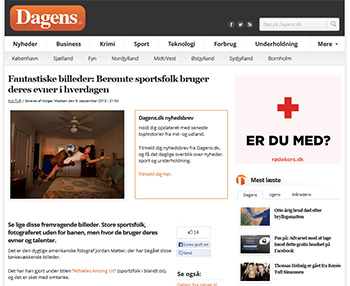 Athletes Among Us featured in Dagens