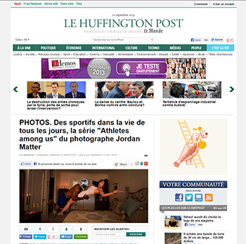 Athletes Among Us featured in Le Huffington Post