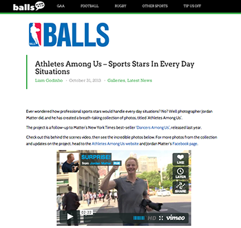 Athletes Among Us featured on Balls