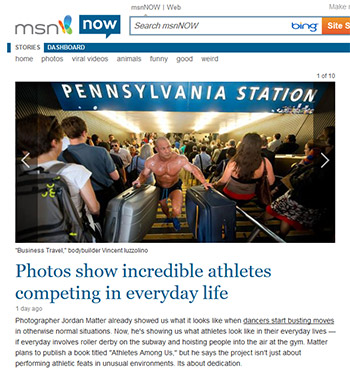 Athletes Among Us featured on MSN Now