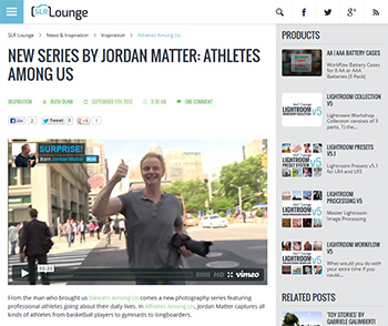 Athletes Among Us featured on SLR Lounge