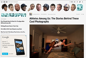 Athletes Among Us featured on Deadspin