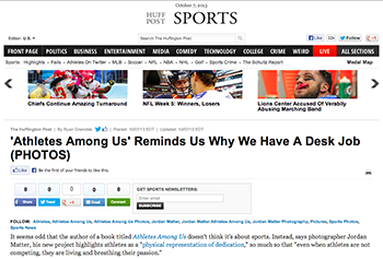 Athletes Among Us featured on HuffPost Sports