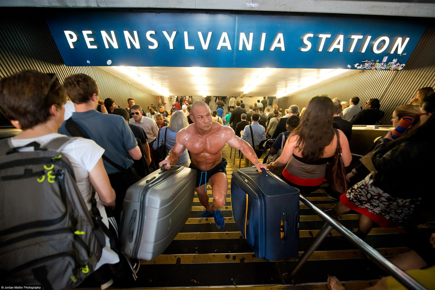 """Business Travel"" / Vincent Iuzzolino / Bodybuilder & Kickboxer"